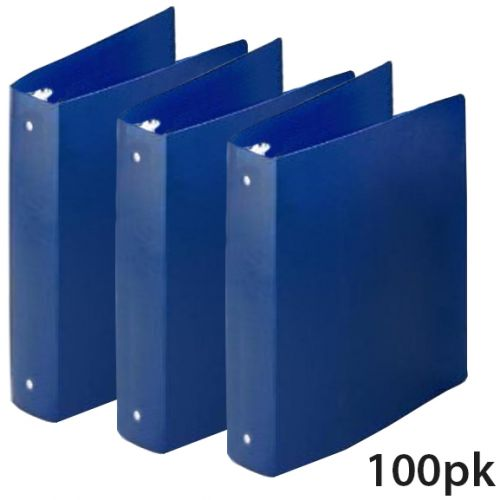 "100 Pack of 1 ½"" Royal Blue Letter Size Poly Binders [35 Gauge] - CLEARANCE SALE"