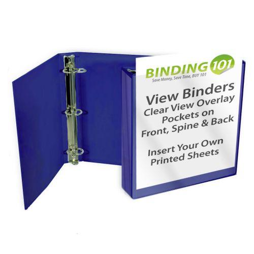 "1-1/2"" Royal Blue View Binder (Each-60 Minimum Order Requirement)"