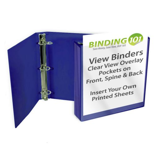 "2"" Royal Blue View Binder (Each-60 Minimum Order Requirement)"