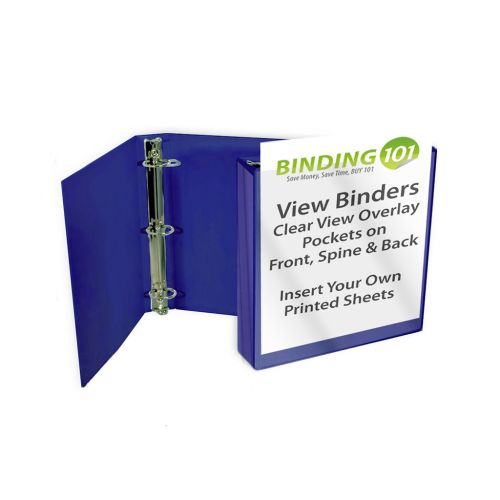 Royal Blue Half Size View Binders