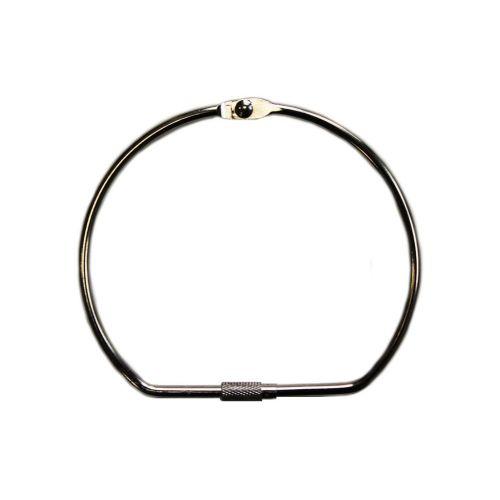 """5"""" Silver Screw Lock Binding Rings (10/Pk) Item#11MSLBR500"""