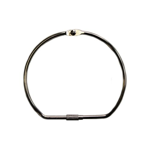 """6"""" Silver Screw Lock Binding Rings (10/Pk) Item#11MSLBR600"""