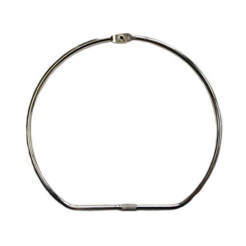"""7"""" Silver Screw Lock Binding Rings (10/Pk) Item#11MSLBR700"""