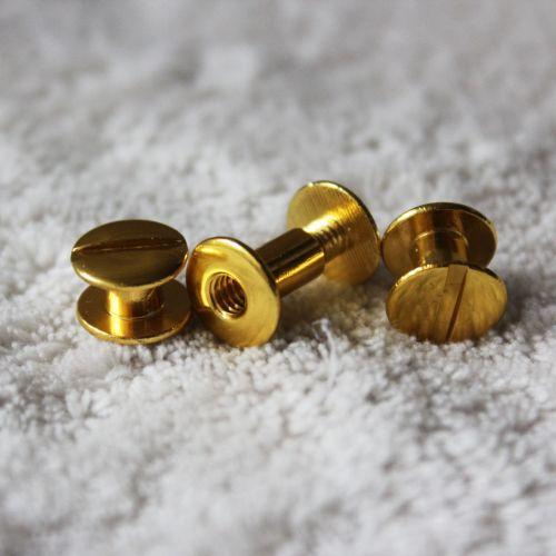 """1/4"""" Gold Aluminum Screw Posts - Buy101"""
