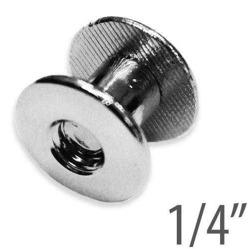 "1/4"" Silver Aluminum Screw Posts (100 Sets/Pk) Item#2414ALUMIN"
