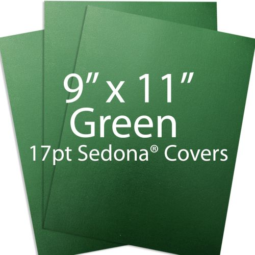 "9"" x 11"" Green Sedona Report Covers"