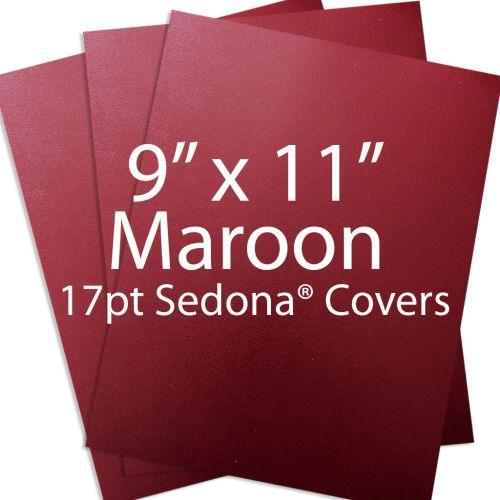 "Maroon 9"" x 11"" Sedona Report Covers"