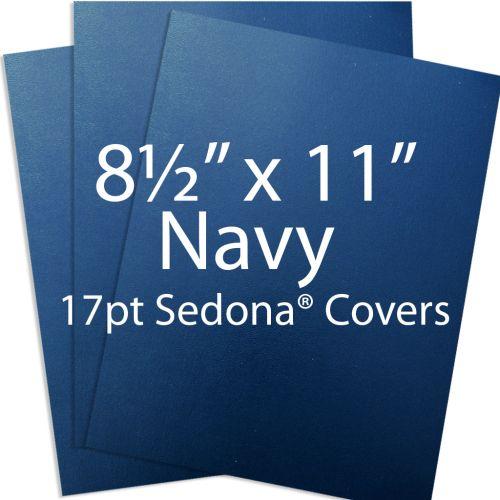 "Sedona 8.5"" x 11"" Navy Blue Premium 17pt Vinyl Report Covers (100/Bx)"