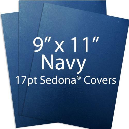 """9"""" x 11"""" Navy Sedona Report Covers"""