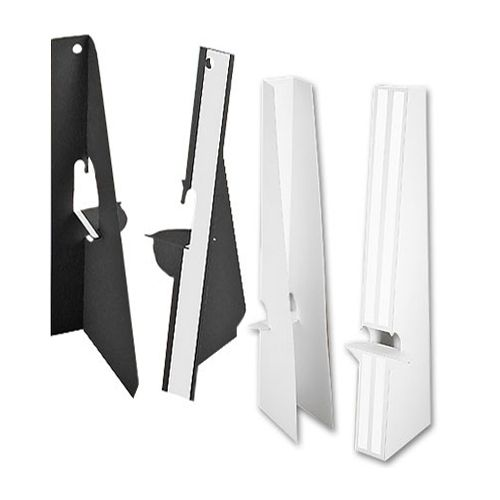 15 Inch Self Stick Easel Backs - Black and White - Single and Double-Wing
