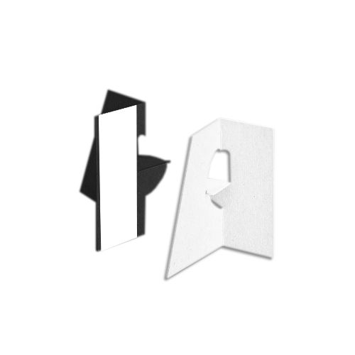 3 Inch Self Stick Easel Backs - Black and White