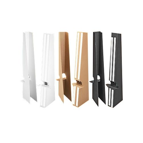 24 Inch Self Stick Easel Backs - Black, White, and Kraft Brown - Double-Wing
