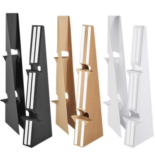 36 Inch Self Stick Easel Backs - Black, White, and Kraft Brown - Double-Wing