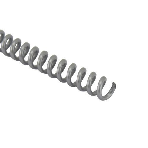 """Silver 12"""" Spiral Plastic Coil [32 mm (1-1/4""""), 4:1 Pitch] (100/Box) Item#334132SILV Image 1"""