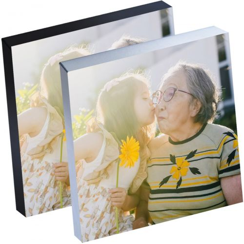 "12"" x 12"" Silver Linings™ Peel-and-Stick Photo Block Frames, Choose from Silver or Black Edge"