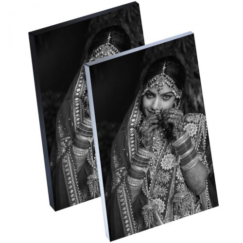 """12"""" x 18"""" Silver Linings™ Peel-and-Stick Photo Block Frames, Choose from Silver or Black Edge"""