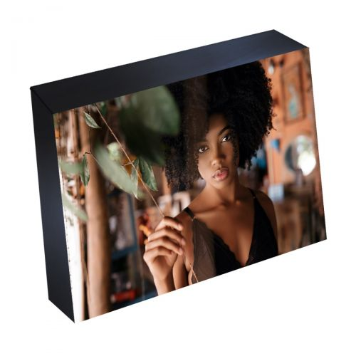 """4"""" x 6"""" Silver Linings Peel-and-Stick Photo Mounting Block Frames with Black Edges"""