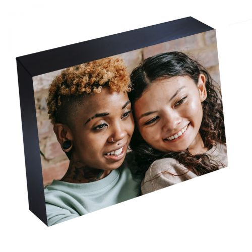 "5"" x 7"" Peel-and-Stick Photo Mounting Blocks with Black Trim"