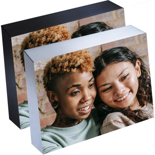 "5"" x 7"" Silver Linings Self-Adhesive Photo Mounting Blocks, Black or Silver Trim"
