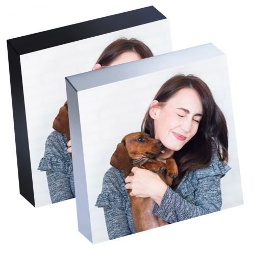 """6"""" x 6"""" Silver Linings™ Peel-and-Stick Photo Block Frames, Choose from Silver or Black Edge"""