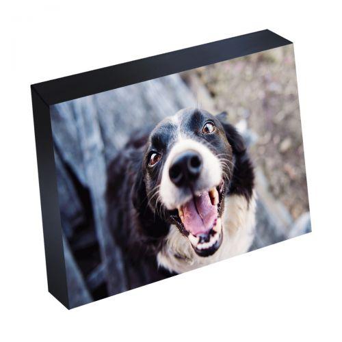 "6"" x 8"" Silver Linings™ Photo Blocks with Black Wood Edge (10/Bx)"