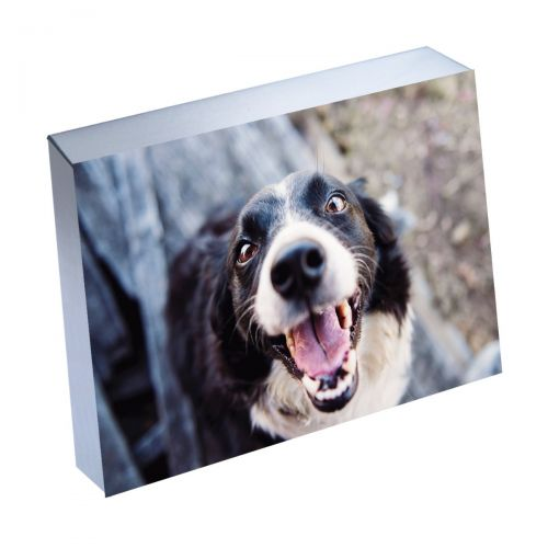 "6"" x 8"" Silver Linings™ Photo Blocks with Silver Edge (10/Bx)"