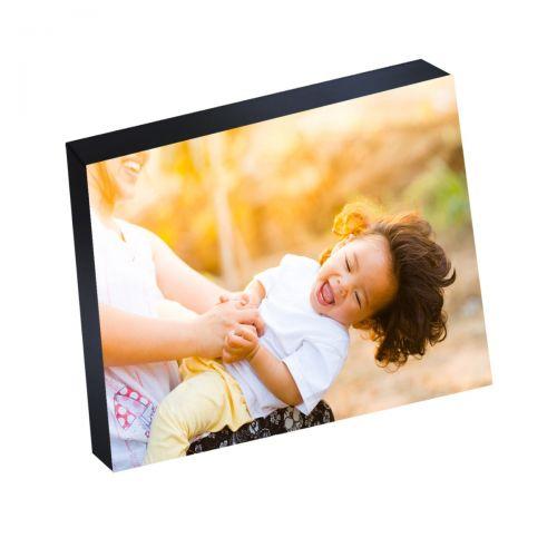 "8"" x 10"" Silver Linings™ Photo Blocks with Black Wood Edge (10/Bx)"