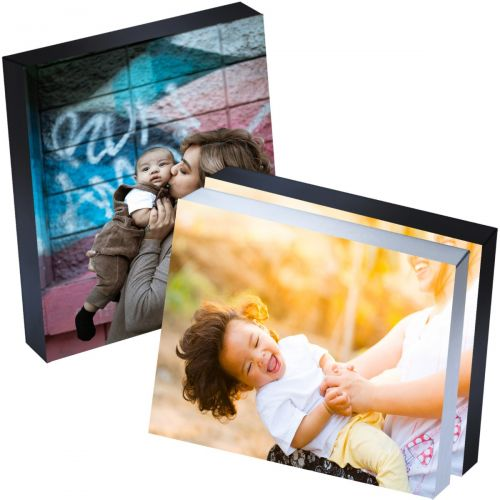 """8"""" x 10"""" Silver Linings™ Peel-and-Stick Photo Block Frames, Choose from Silver, Gray, or Black Edge"""