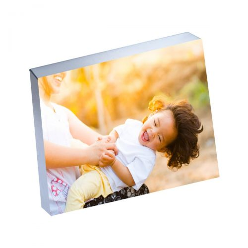 "8"" x 10"" Silver Linings™ Photo Blocks with Silver Edge (10/Bx)"