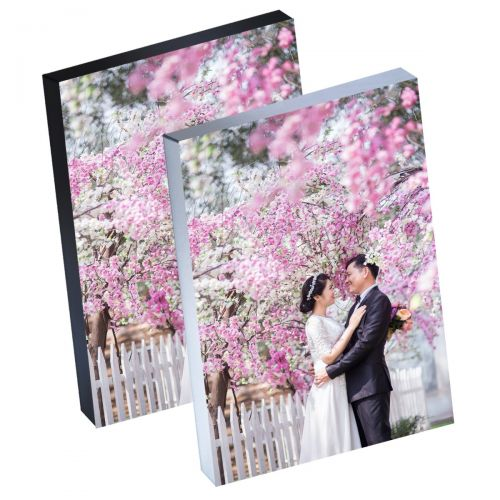 "8"" x 12"" Silver Linings™ Peel-and-Stick Photo Block Frames, Choose from Silver or Black Edge"
