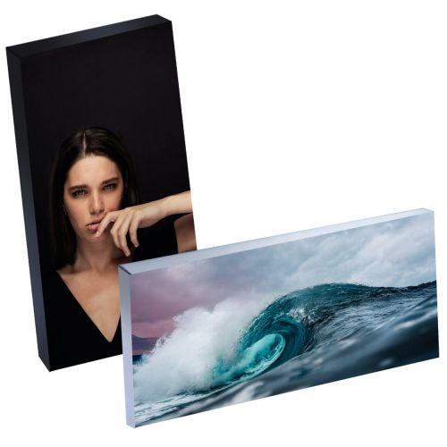 "8"" x 20"" Silver Linings™ Peel-and-Stick Photo Block Frames, Choose from Silver or Black Edge"