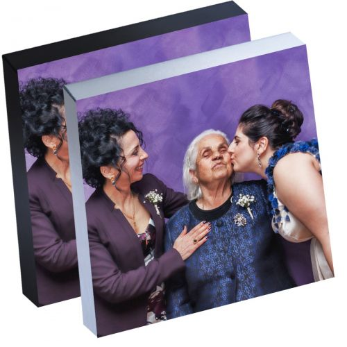 """8"""" x 8"""" Silver Linings™ Peel-and-Stick Photo Block Frames, Choose from Silver or Black Edge"""