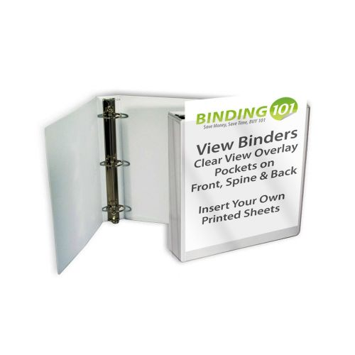 Silver Half Size View Binders