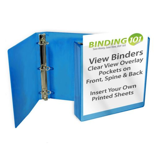 Sky Blue Letter Size Standard View Binders [Round Ring] Image 1