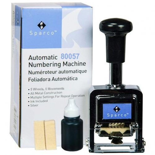 5 Wheel Automatic Number Stamp Kit with Ink