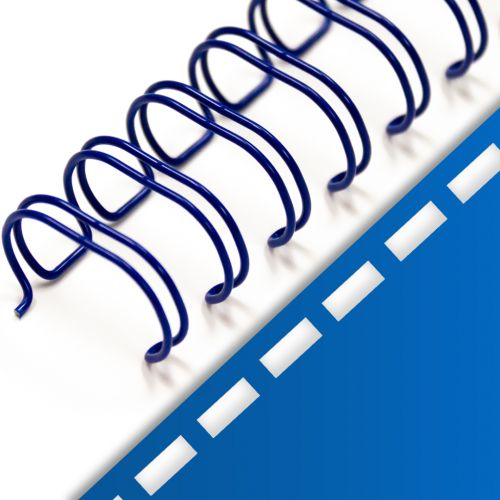 "3/4"" Blue Spiral-O Wire Combs [19 Loop]"