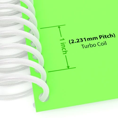 2.231mm Pitch White TurboCoil Spiral Binding Coil