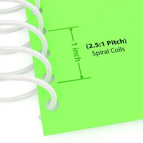 "2.5:1 White 12"" Spiral Plastic Coils Image 1"
