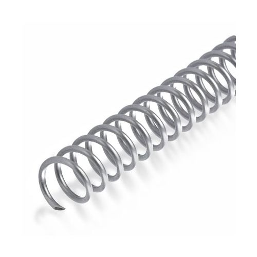 "4:1 Silver 36"" Spiral Plastic Coils Image 1"