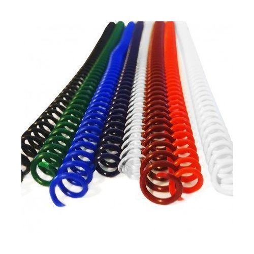 "4:1 Pitch Spiral Plastic Coil 36"" Long [8 mm (5/16""), Red](100/Box) Item#344108REDD Image 1"