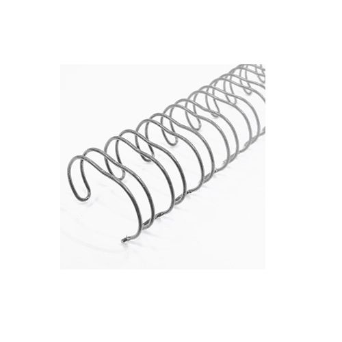 Silver Spiral-O 19-Loop Wire Binding Spines Image 1