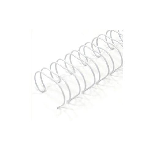 White Spiral-O 19-Loop Wire Binding Spines Image 1