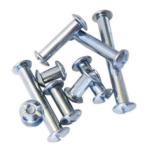"1-1/2"" Steel Screw Posts (100 Sets/Box)"