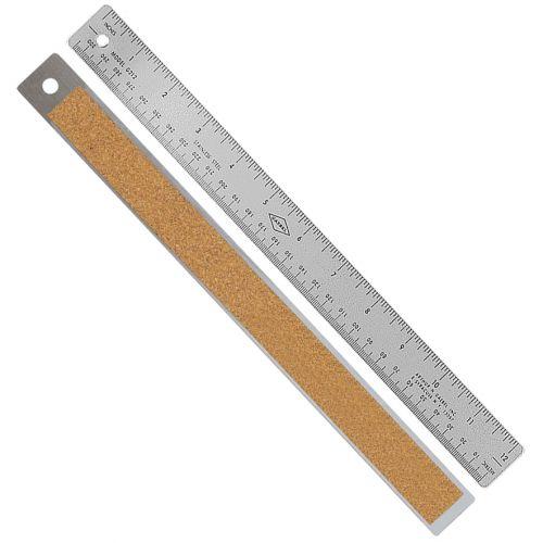 "Style 200 12"" Gaebel Cork Ruler [Inches / Metric]"