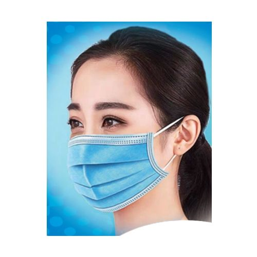 Surgical Style Disposable Face Masks In Use