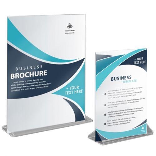Buy T-Style Single-Sheet Table-Top Brochure Holders
