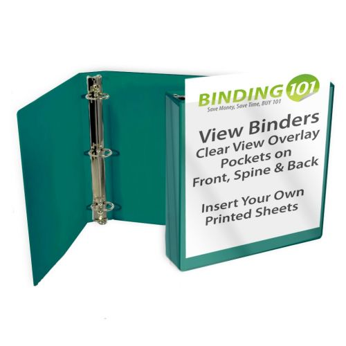 Teal Letter Size Standard View Binders [Round Ring] Image 1
