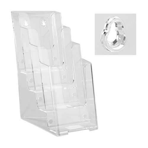 Table-Top Tri-Fold/Pamphlet Holders [4-Tier] (2 Pack) Item#88ULS12206