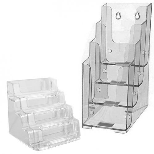 Tiered Table Top Literature, Brochure + Business Card Holders