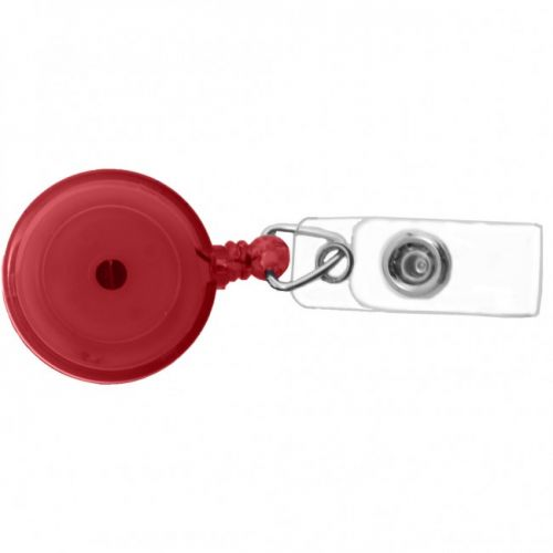 Round Badge Reels [Red Tint] (100/pk) Item#09AKREBART